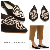 SOPHIA WEBSTER Casual Style Suede Plain Office Style Flats