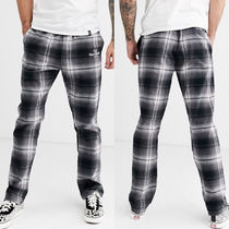 HUF Printed Pants Other Check Patterns Unisex Street Style