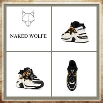 Naked Wolfe Leopard Patterns Platform Casual Style Blended Fabrics