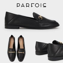 PARFOIS Plain Toe Casual Style Plain Loafer & Moccasin Shoes