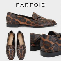 PARFOIS Leopard Patterns Plain Toe Casual Style