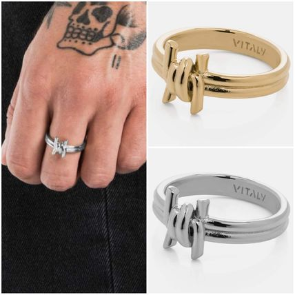 Casual Style Unisex Street Style Chain Silver Rings