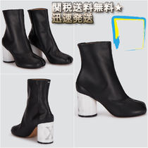 Maison Margiela Casual Style Plain Leather Block Heels Ankle & Booties Boots