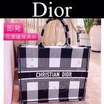 Christian Dior BOOK TOTE Dior Book Totes Bag canvas limited popular white logo black.