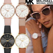 Michael Kors Casual Style Leather Round Party Style Quartz Watches