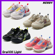 NERDY Casual Style Unisex Collaboration Low-Top Sneakers