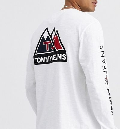 Tommy Hilfiger Long Sleeve Crew Neck Street Style Long Sleeves Long Sleeve T-Shirts