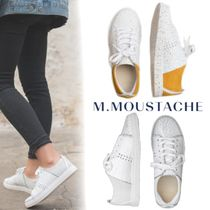 M. MOUSTACHE Casual Style Suede Street Style Plain Leather Elegant Style