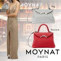 MOYNAT Casual Style Calfskin 2WAY Plain Party Style Elegant Style