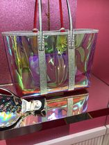 Christian Louboutin Casual Style A4 PVC Clothing Elegant Style Totes