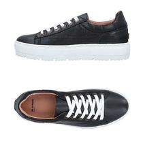 JIL SANDER NAVY Plain Leather Low-Top Sneakers