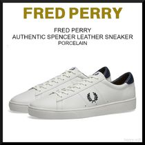 FRED PERRY Unisex Street Style Plain PVC Clothing Sneakers