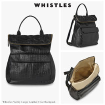 WHISTLES Casual Style Unisex A4 Other Animal Patterns Leather