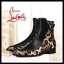 Christian Louboutin Leopard Patterns Blended Fabrics Leather