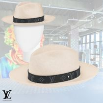 Louis Vuitton Blended Fabrics Street Style Straw Hats