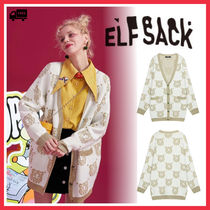 ELF SACK Casual Style Street Style Other Animal Patterns Medium Long