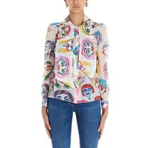 Moschino Casual Style Silk Long Sleeves Party Style Elegant Style