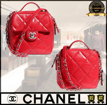 CHANEL Casual Style Calfskin 2WAY Chain Plain Party Style