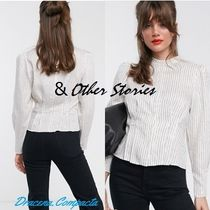 & Other Stories Stripes Puffed Sleeves Long Sleeves Shirts & Blouses