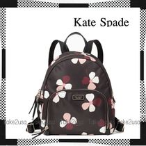 kate spade new york Flower Patterns Casual Style Nylon Backpacks