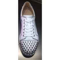 Christian Louboutin Plain Toe Round Toe Casual Style Studded Leather Party Style