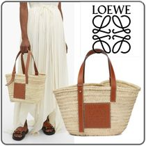 LOEWE Calfskin Blended Fabrics Other Animal Patterns Straw Bags