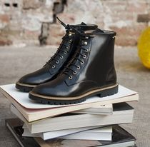 M. MOUSTACHE Rubber Sole Casual Style Leather Office Style Elegant Style