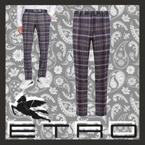 ETRO Slax Pants Tapered Pants Other Check Patterns Cotton