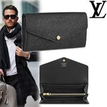 Louis Vuitton MONOGRAM EMPREINTE Monogram Unisex Plain Leather Long Wallet  Logo Long Wallets