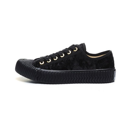 Round Toe Rubber Sole Casual Style Unisex Blended Fabrics