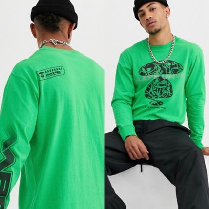 A BATHING APE Long Sleeve Crew Neck Pullovers Street Style Long Sleeves Cotton