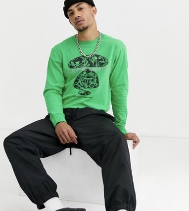 A BATHING APE Long Sleeve Crew Neck Pullovers Street Style Long Sleeves Cotton 5