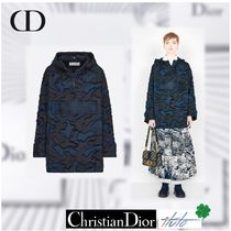 Christian Dior Camouflage Casual Style Street Style Medium Oversized