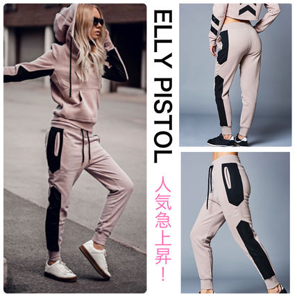 Casual Style Street Style Cotton Logo Pants