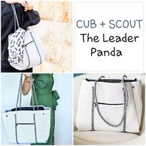 CUB+SCOUT Casual Style A4 2WAY Plain Totes
