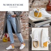 M. MOUSTACHE Rubber Sole Casual Style Suede Leather Elegant Style