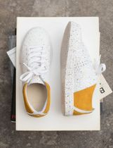 M. MOUSTACHE Low-Top Rubber Sole Casual Style Suede Leather Elegant Style Logo 5