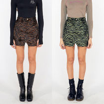 SCULPTOR Pencil Skirts Short Street Style Other Animal Patterns Logo