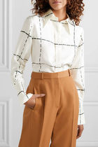 Victoria Beckham Other Check Patterns Casual Style Silk Street Style