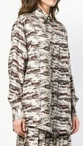 Victoria Beckham Camouflage Casual Style Silk Street Style Long Sleeves Plain
