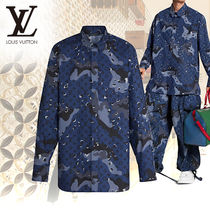 Louis Vuitton MONOGRAM Camouflage Monogram Long Sleeves Cotton Shirts