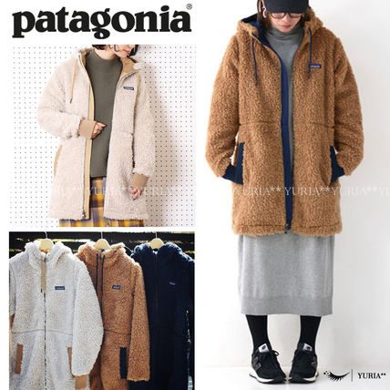 Patagonia Casual Style Street Style Plain Shearling Logo