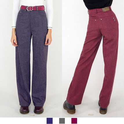 Other Plaid Patterns Casual Style Corduroy Nylon