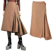 Dries Van Noten Nylon Blended Fabrics Plain Cotton Medium Long Maxi Skirts