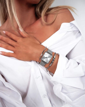 Square Stainless Elegant Style Analog Watches