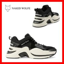 Naked Wolfe Unisex Street Style Plain Leather Handmade Sneakers