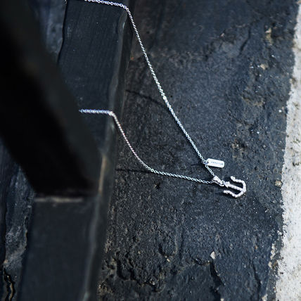 Unisex Street Style Chain Plain Silver Necklaces & Chokers
