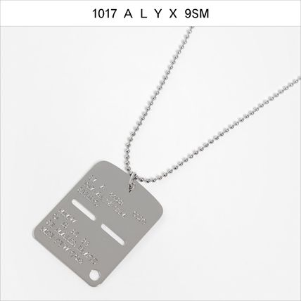 Unisex Street Style Chain Logo Military Necklaces & Chokers