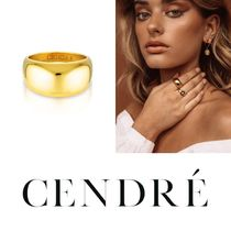 CENDRE Casual Style 18K Gold Rings