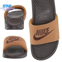 Nike BENASSI Unisex Plain Shower Shoes Logo Shower Sandals